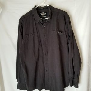 Harler Davidson botton down shirt size xl